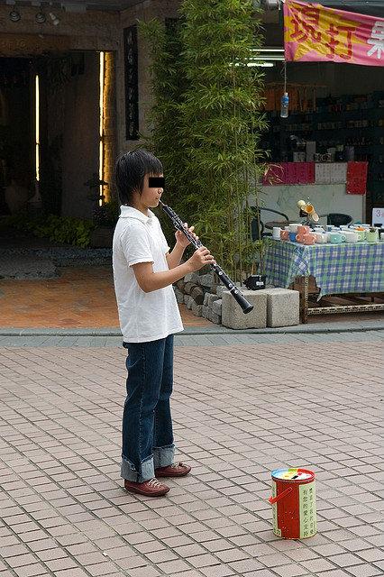 oboe-busker